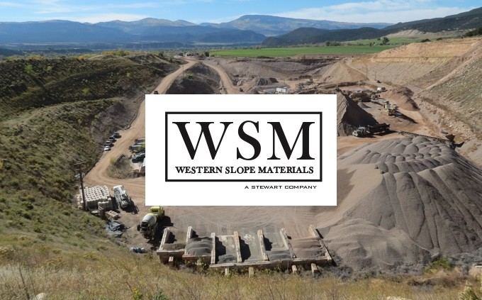 western slope materials logo and aggregate yard