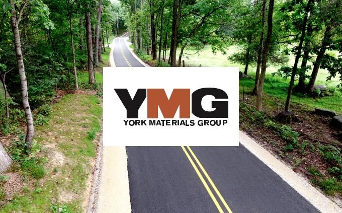 York Materials Group logo and road