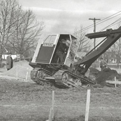 old steam shovel