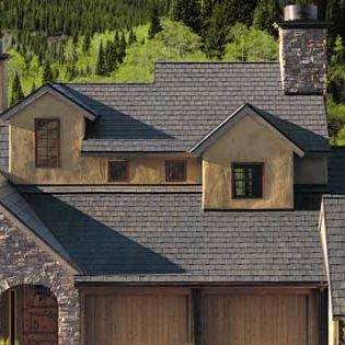 Rustic copper roof on a new house
