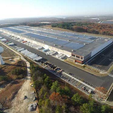 aerial of Amazon Distribution Center