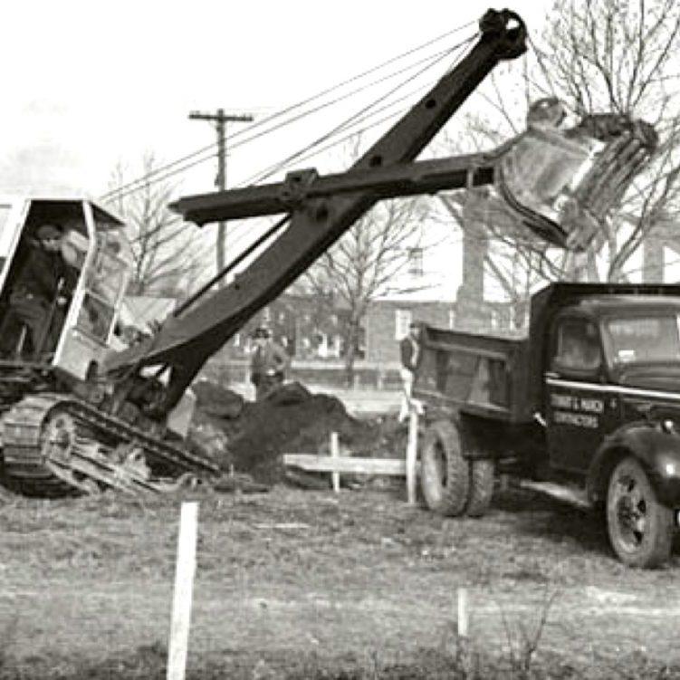 Stewart Companies at job site in 1935