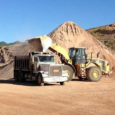 Westerns Slope truck loads gravel